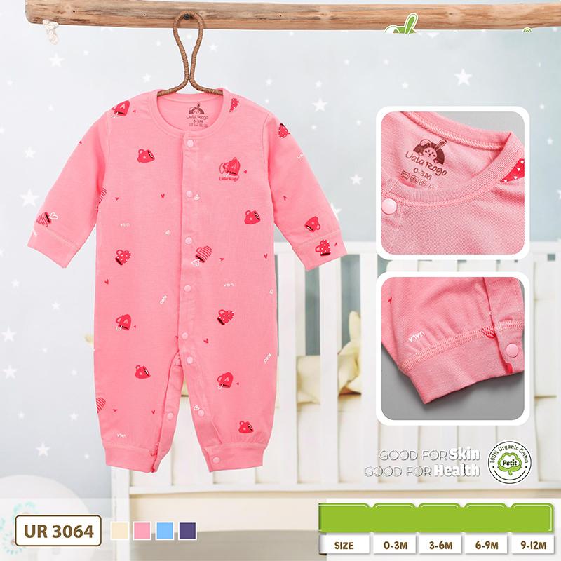 UR3064.4 - Bộ body dài vải Petit Uala Rogo - Màu hồng