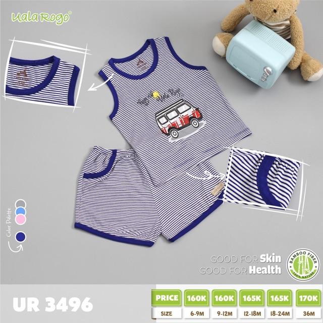 UR3496.2 - Bộ cộc tay cho bé - Màu xanh dương đậm