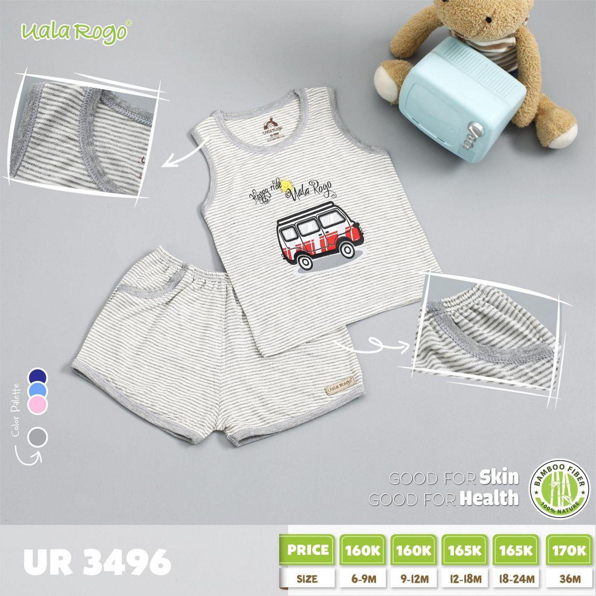 UR3496.3 - Bộ cộc tay cho bé - Màu xám