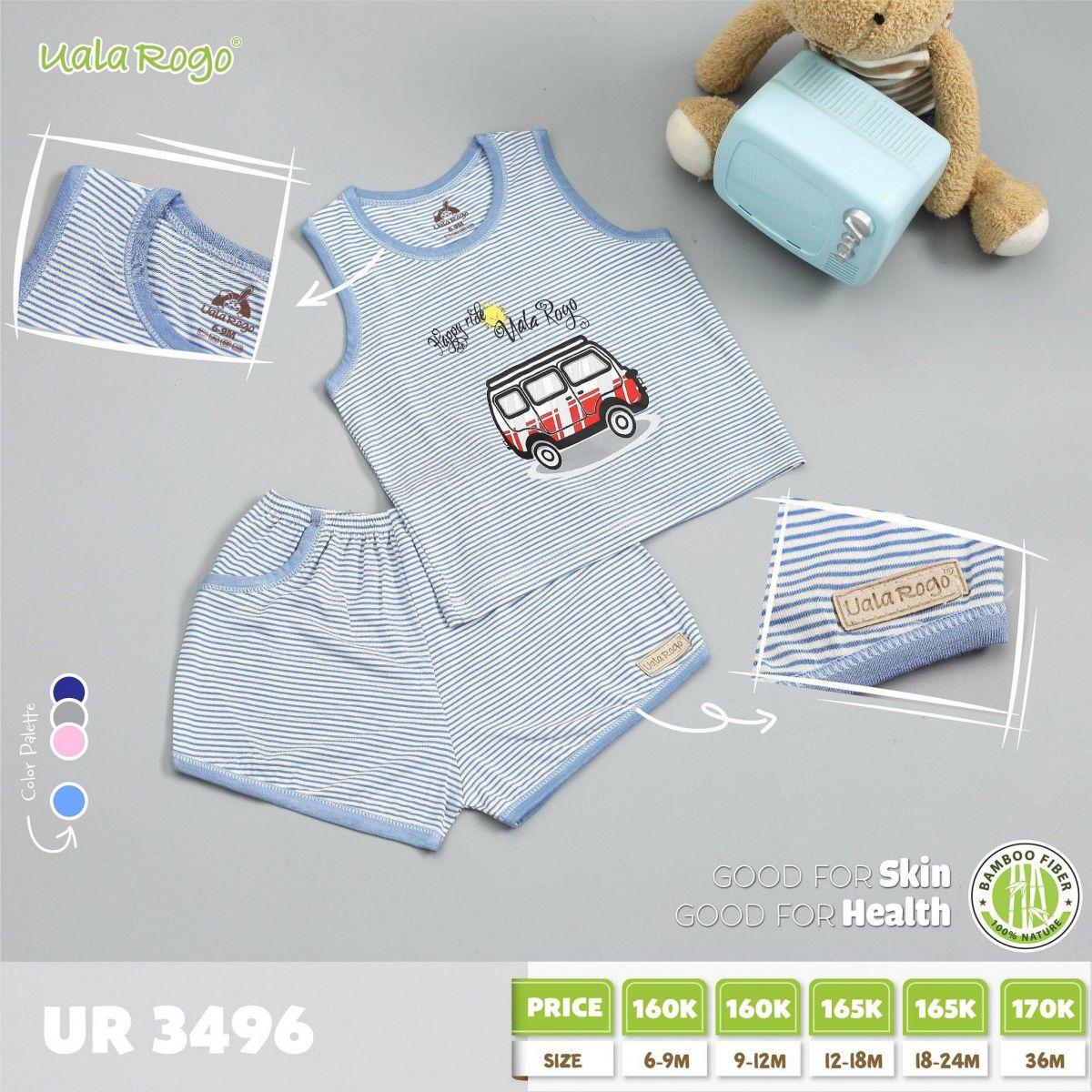 UR3496.4 - Bộ cộc tay cho bé - Màu xanh dương nhạt