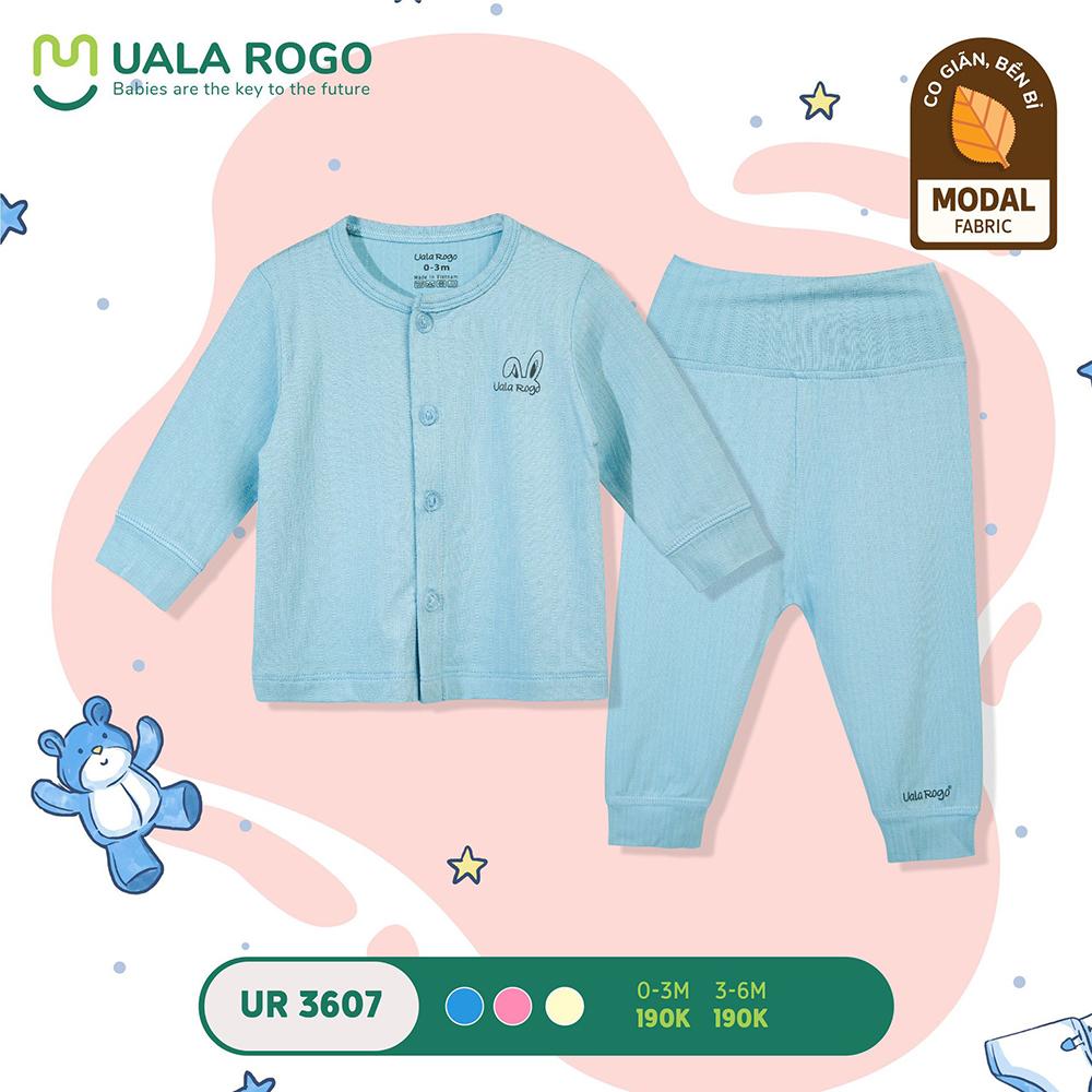 UR3607.1 - Bộ quần áo dài cạp đôi vải sợi sồi Uala Rogo - Xanh