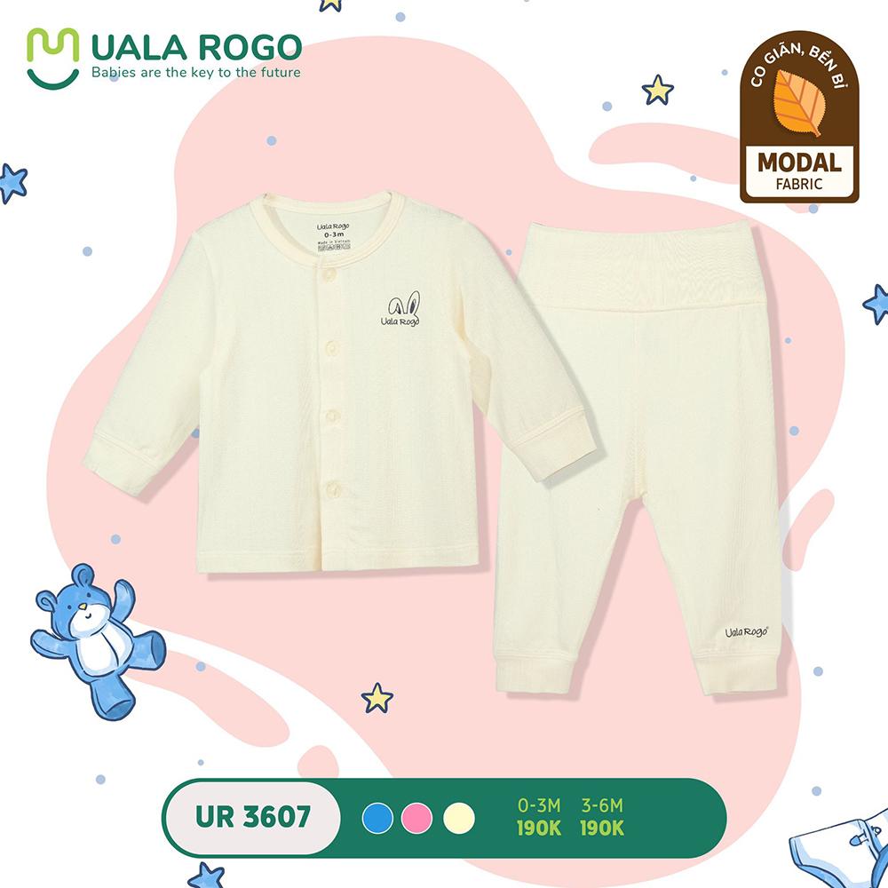 UR3607.3 - Bộ quần áo dài cạp đôi vải sợi sồi Uala Rogo - Vàng
