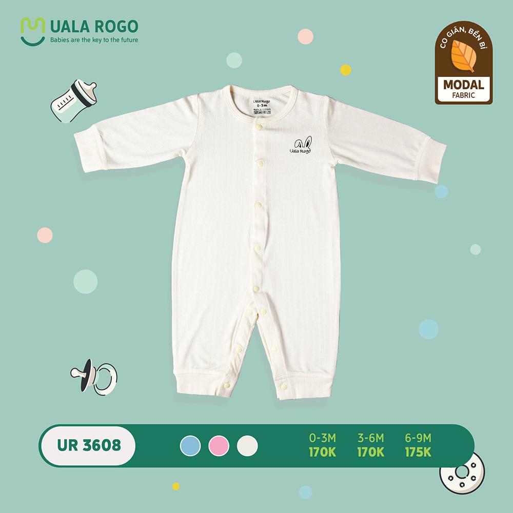 UR3608.3 - Bộ body cài giữa vải sợi sồi Uala Rogo - Màu trắng