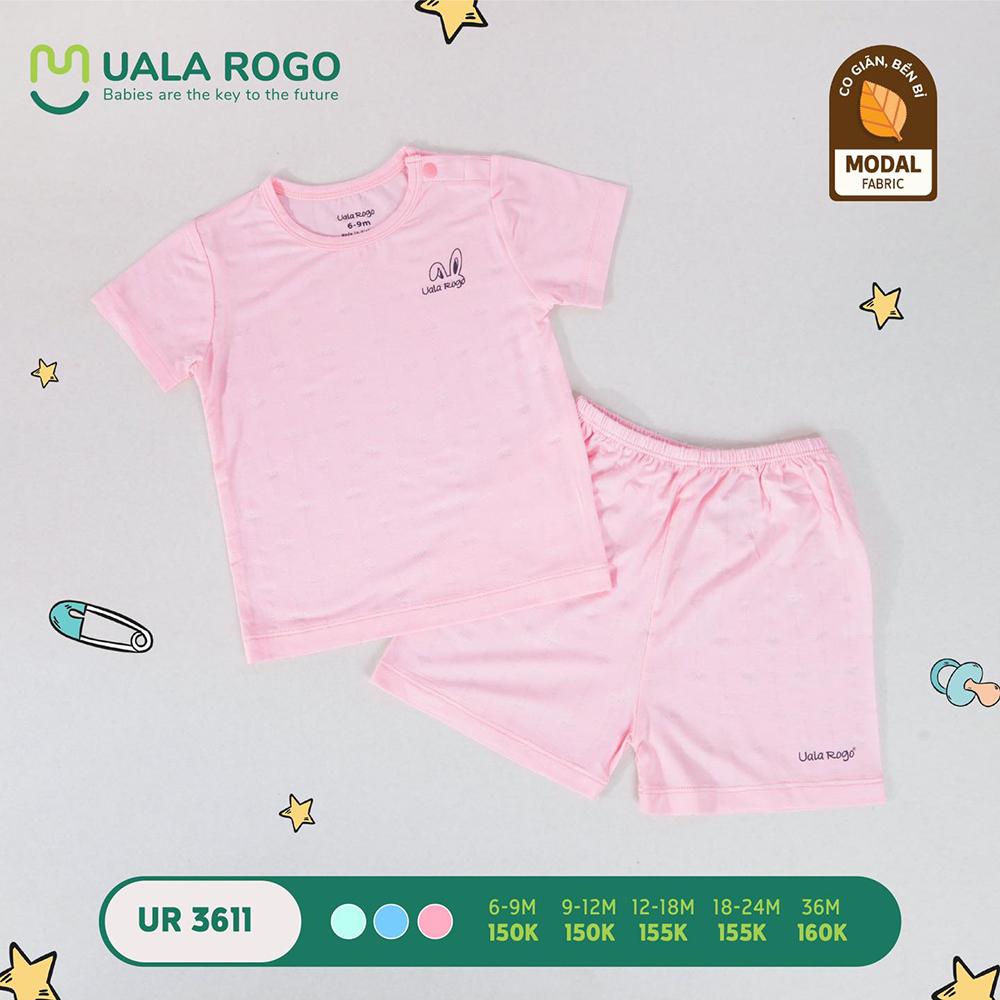 UR3611.1 - Bộ quần áo ngắn tay vải sợi sồi Uala Rogo - Màu hồng