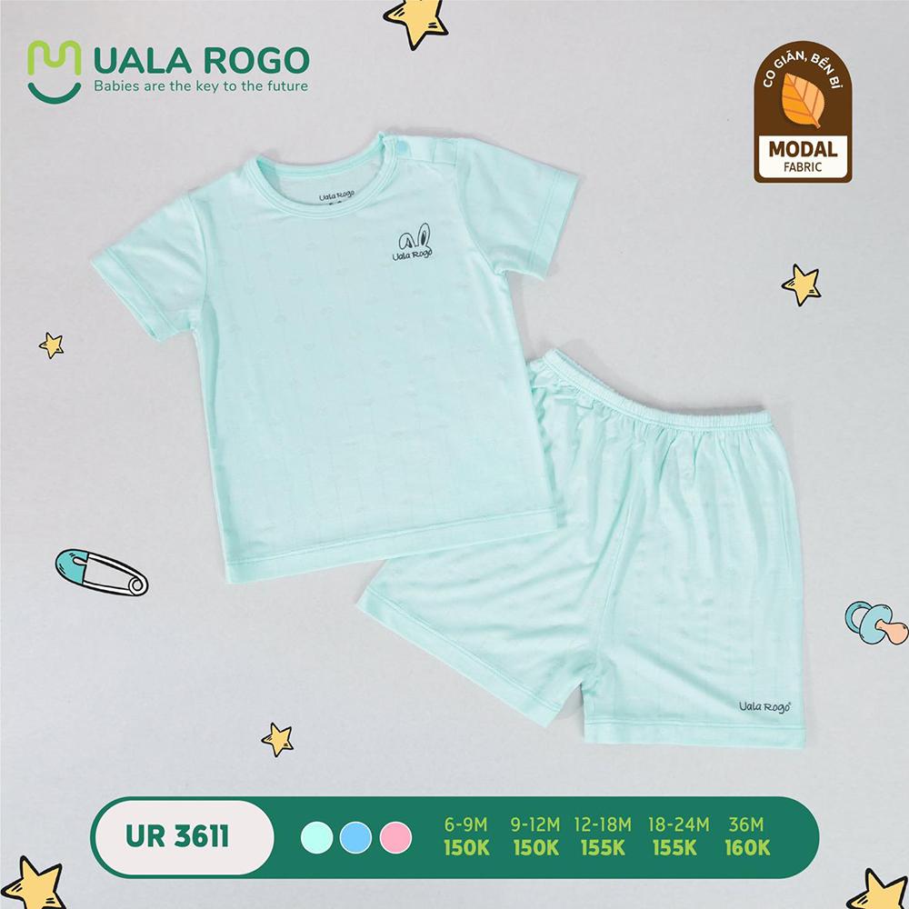 UR3611.2 - Bộ quần áo ngắn tay vải sợi sồi Uala Rogo - Màu xanh mint