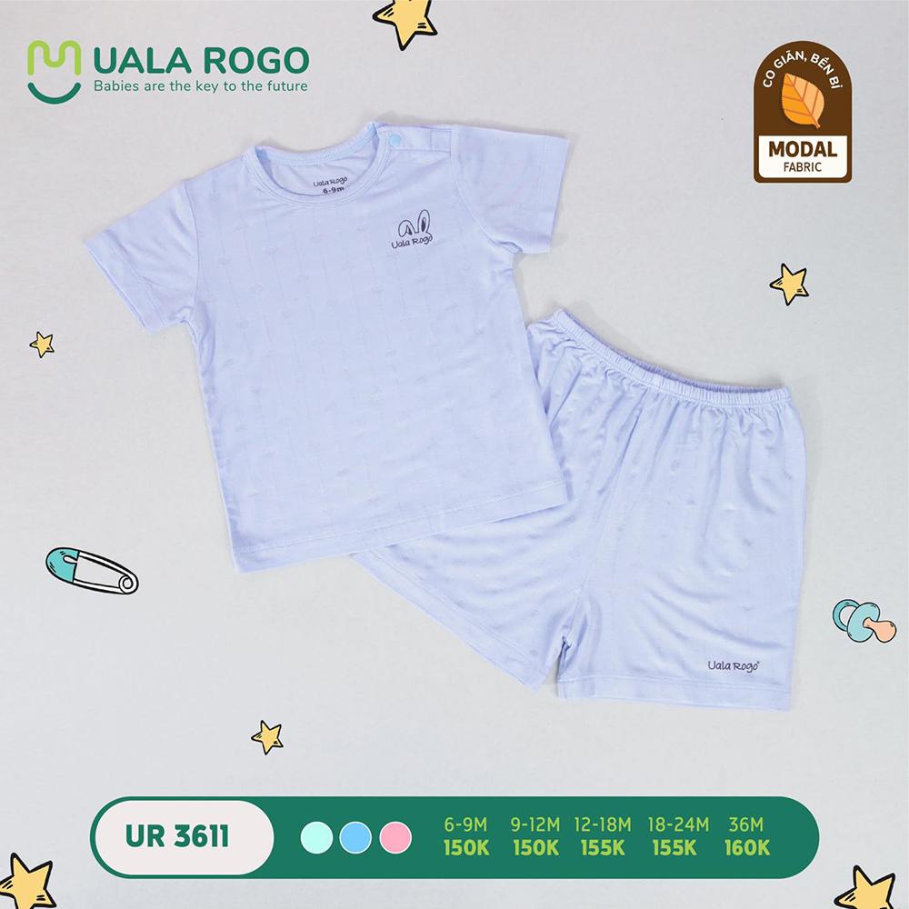 UR3611.3 - Bộ quần áo ngắn tay vải sợi sồi Uala Rogo - Màu xanh dương
