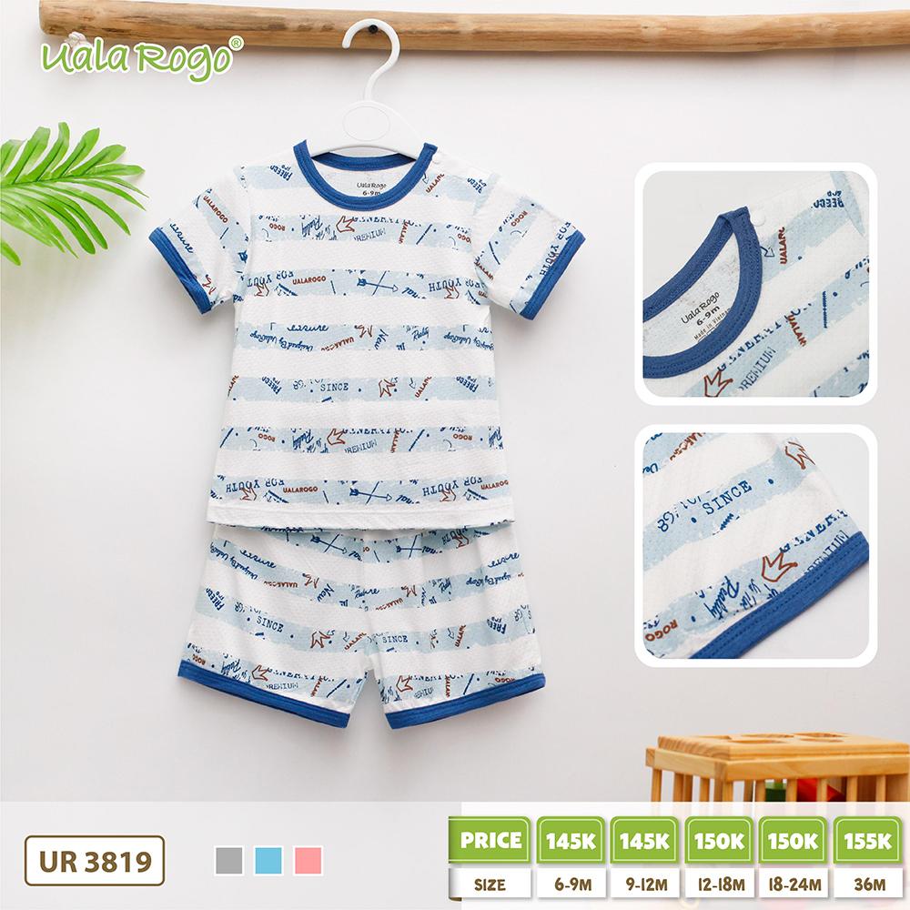 UR3819.3 - Bộ cộc tay cho bé vải cotton Uala Rogo - Xanh