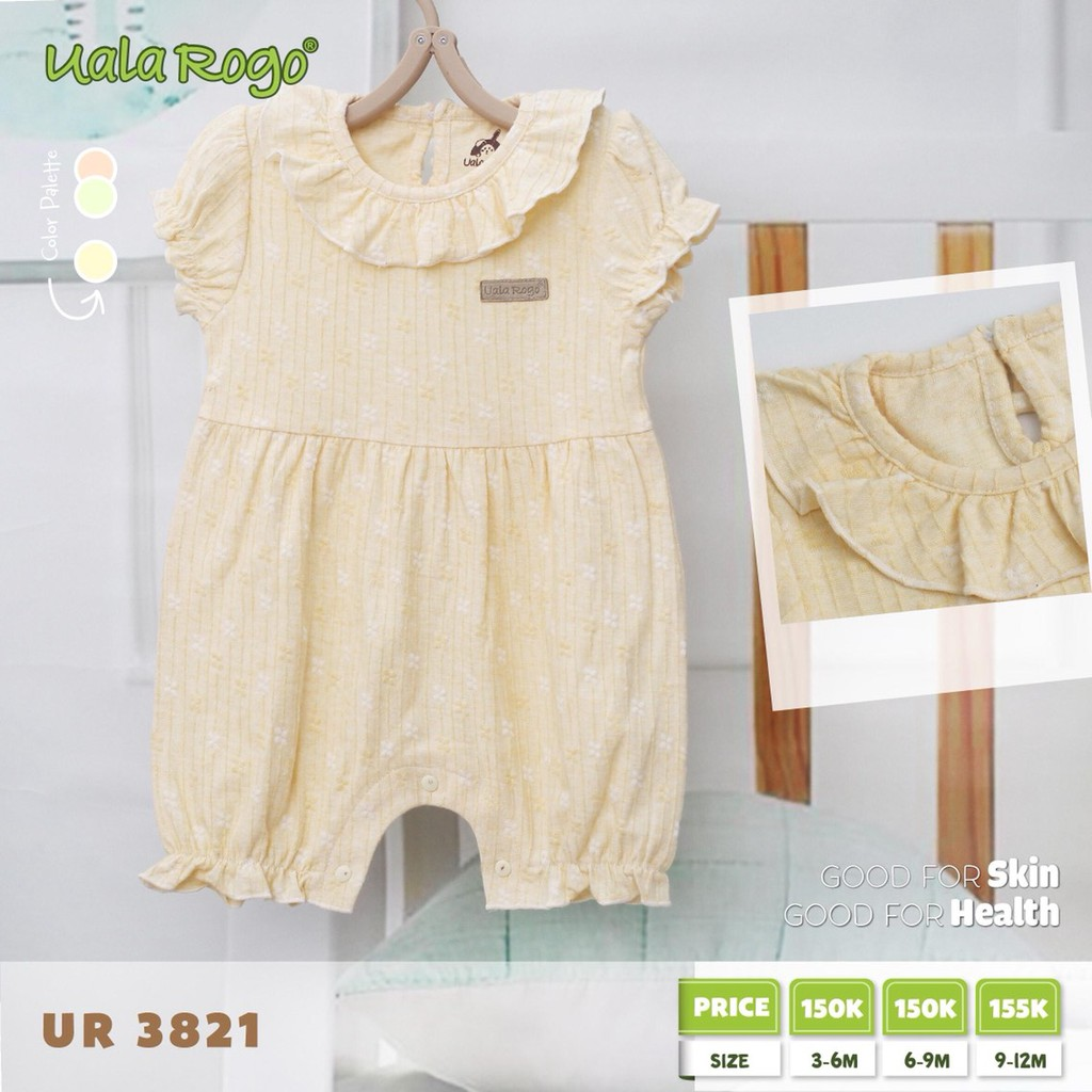 UR3821.1 - Body kiểu cho bé gái cài nút - Màu vàng