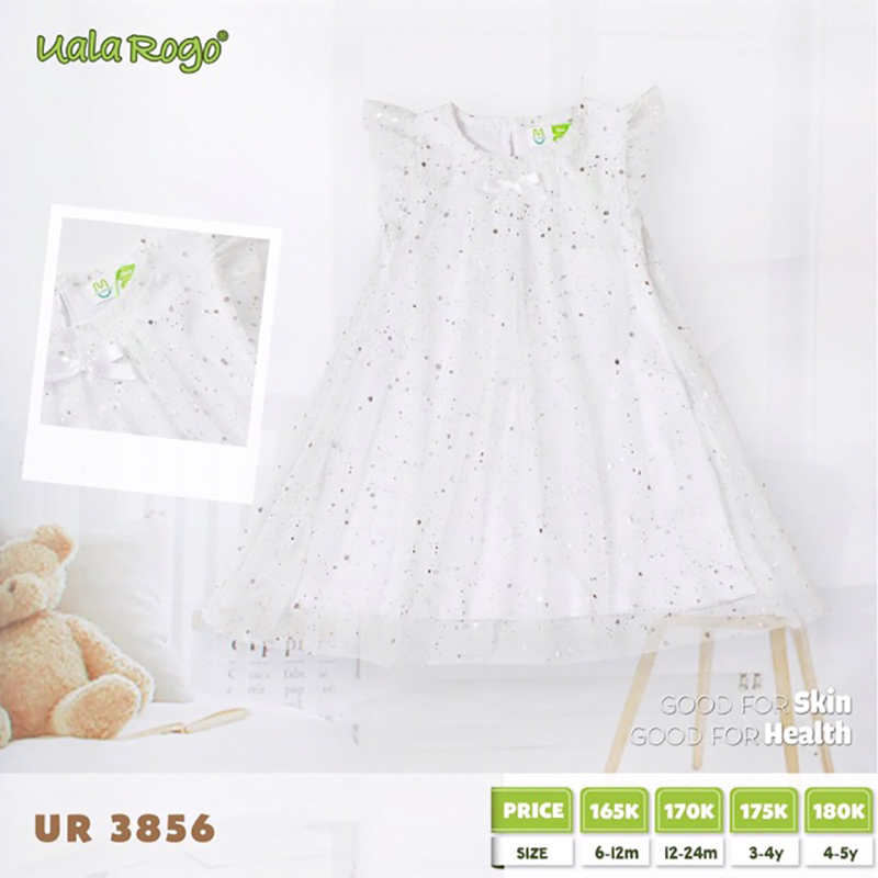 UR3856.3 - Váy cánh tiên Uala Rogo - Màu trắng