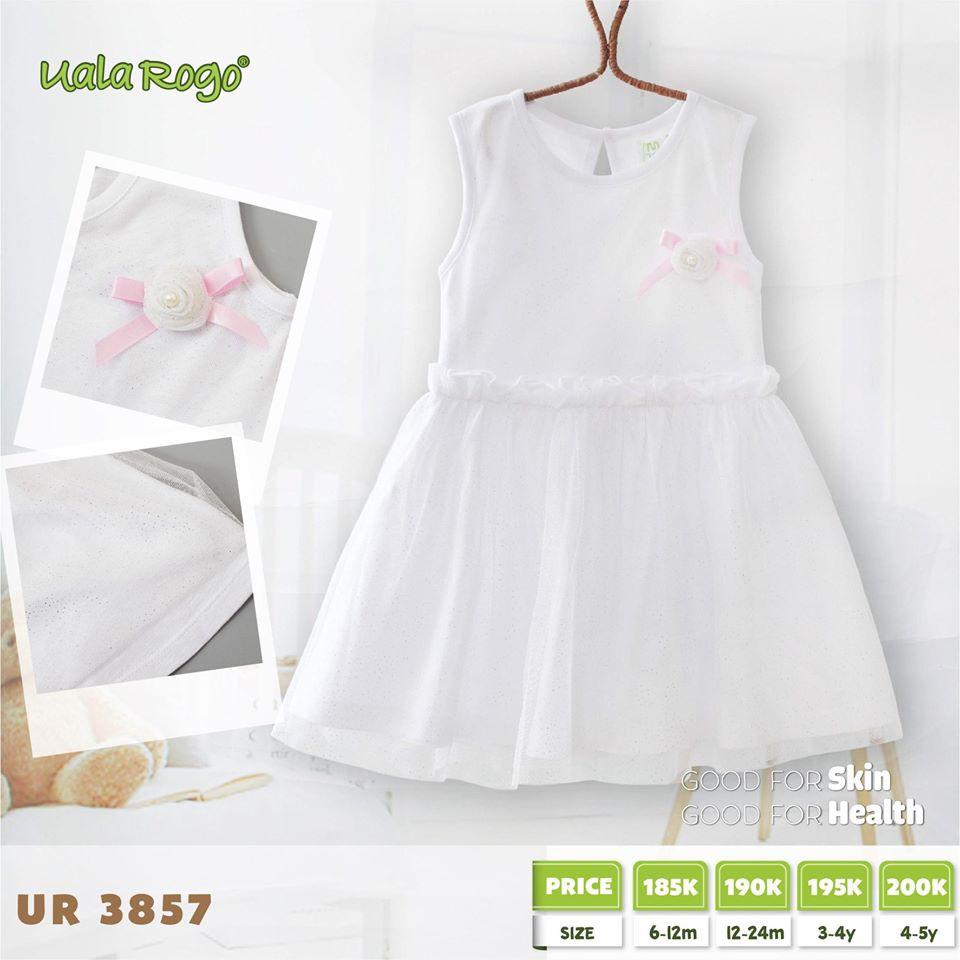 UR3857.3 - Váy đuôi cá Uala Rogo - Màu trắng