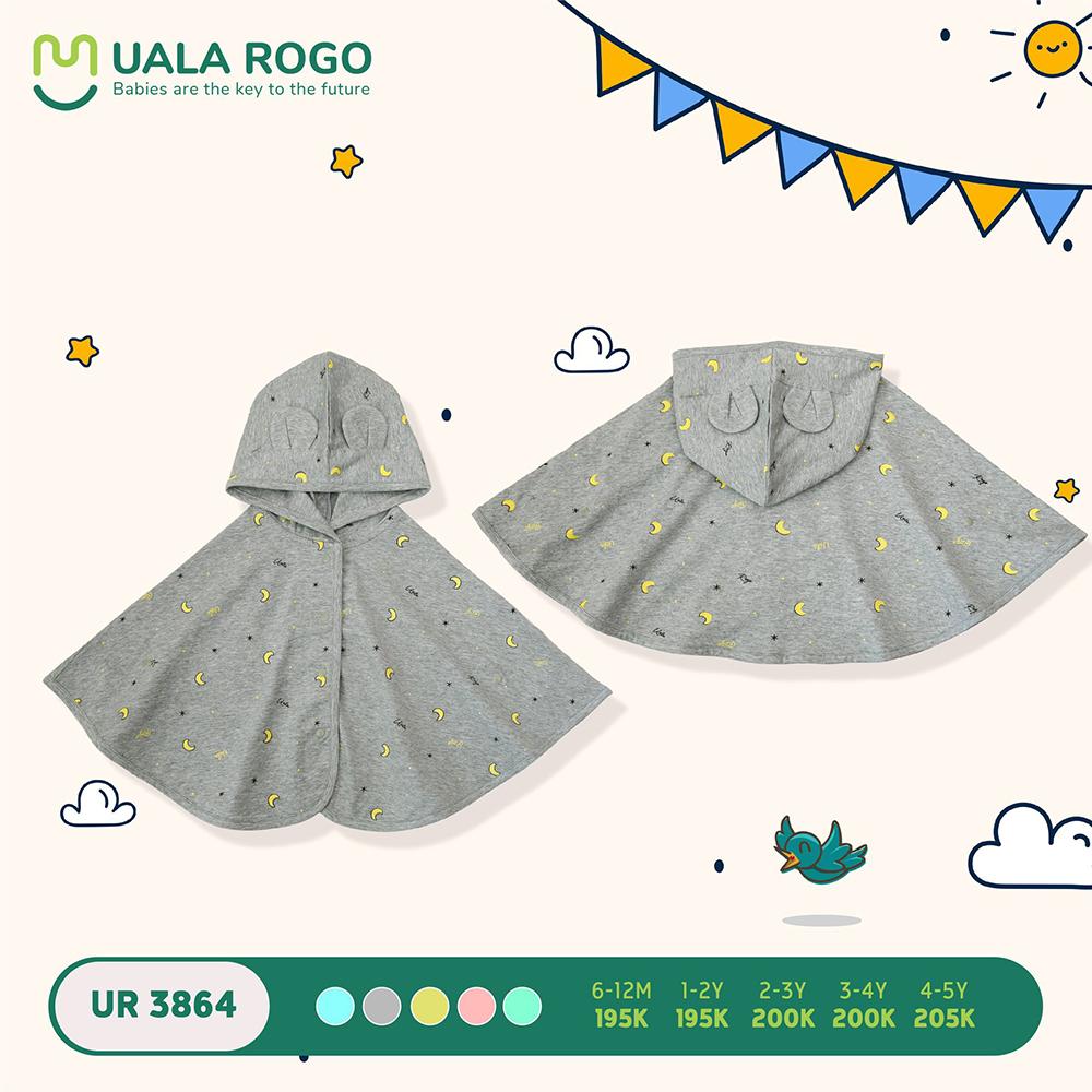 UR3864.3 - Áo choàng đa năng Uala Rogo - Màu ghi