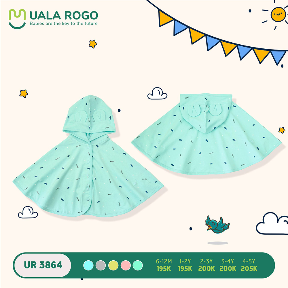 UR3864.5 - Áo choàng đa năng Uala Rogo - Màu xanh mint