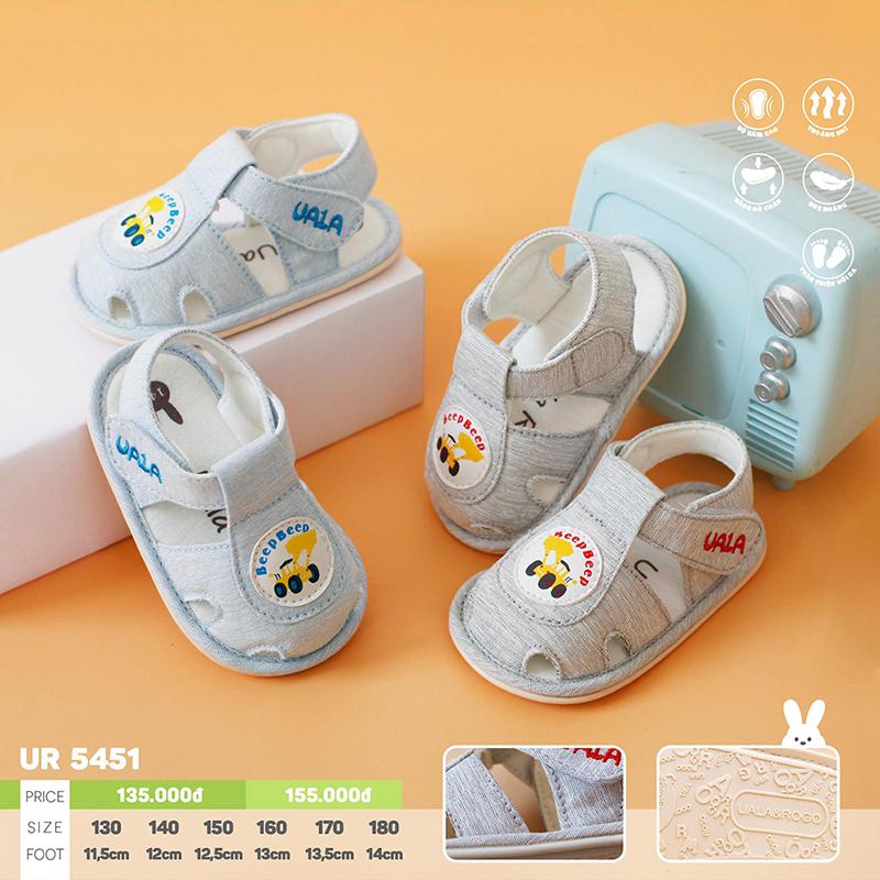 UR5451.2 - Giày tập đi cho bé Uala Rogo - Màu ghi