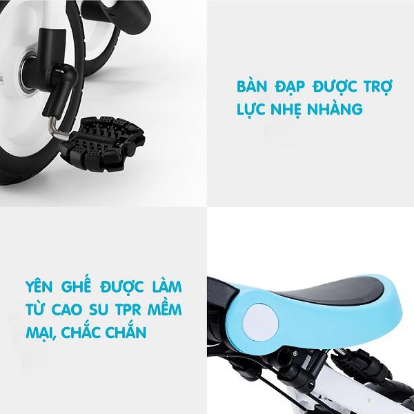 Xe đạp 3 bánh Nadle gấp gọn 3in1 SL-A2 màu xanh