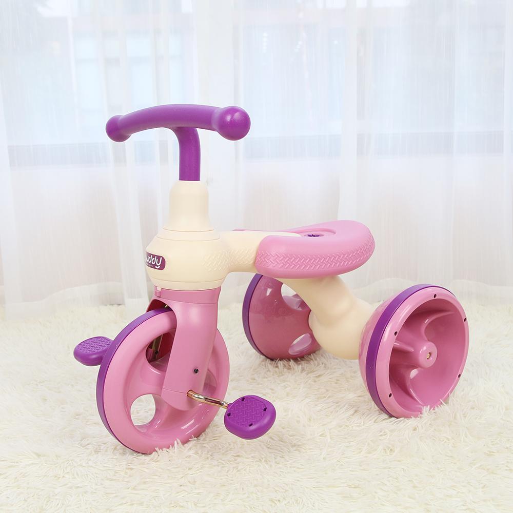 Xe đạp Joovy ba bánh 2 trong 1 Luddy 1009 màu hồng