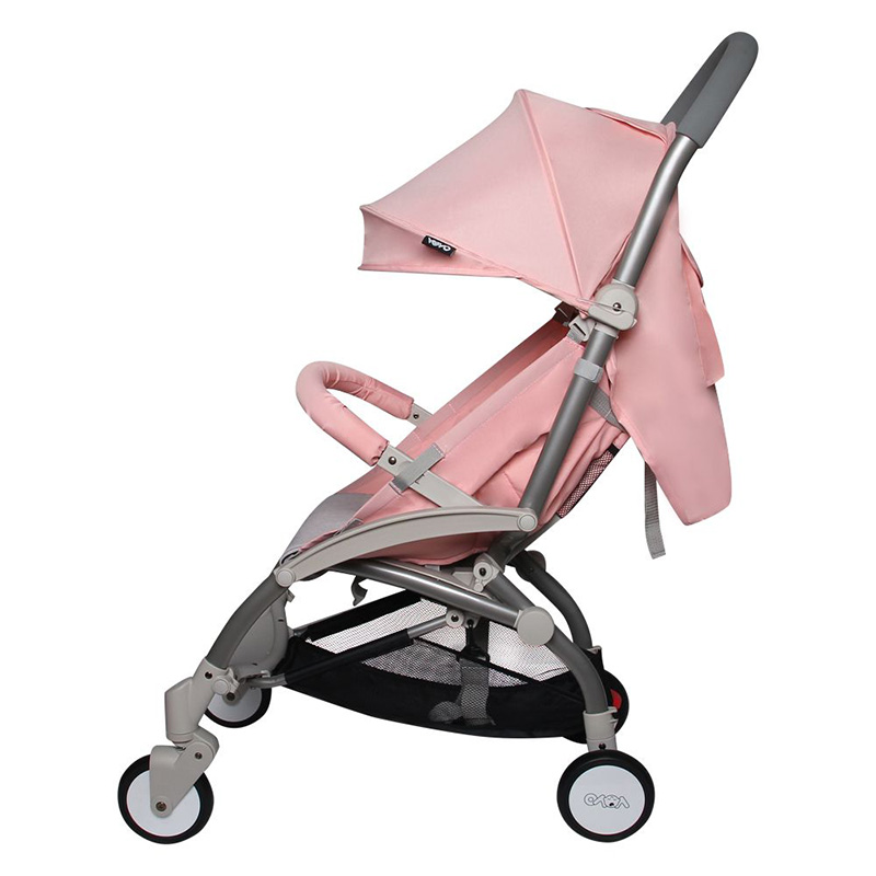 Xe đẩy Vovo 1 chiều màu hồng