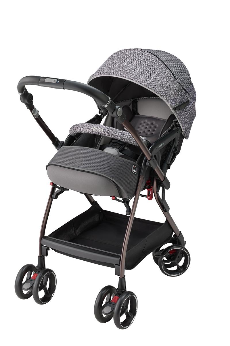 Xe đẩy trẻ em Aprica Optia Cushion Premium (Grey Mosaic GR)