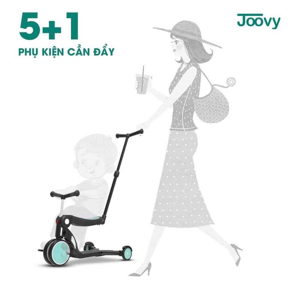 Xe chòi chân, xe 3 bánh - xe cân bằng Joovy kiêm Scooter đa năng 5 trong 1 - N5 Màu vàng (có cần đẩy)
