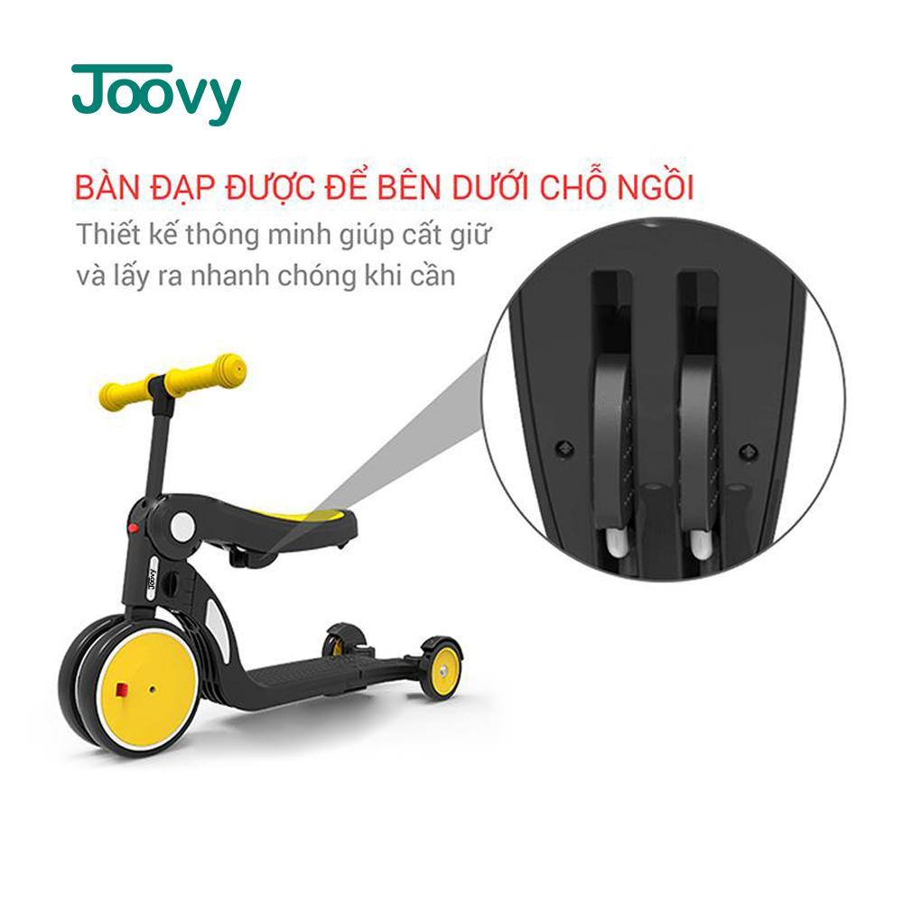 Xe chòi chân, xe 3 bánh - xe cân bằng Joovy kiêm Scooter đa năng 5 trong 1 - N5 Màu xanh (không có cần đẩy)