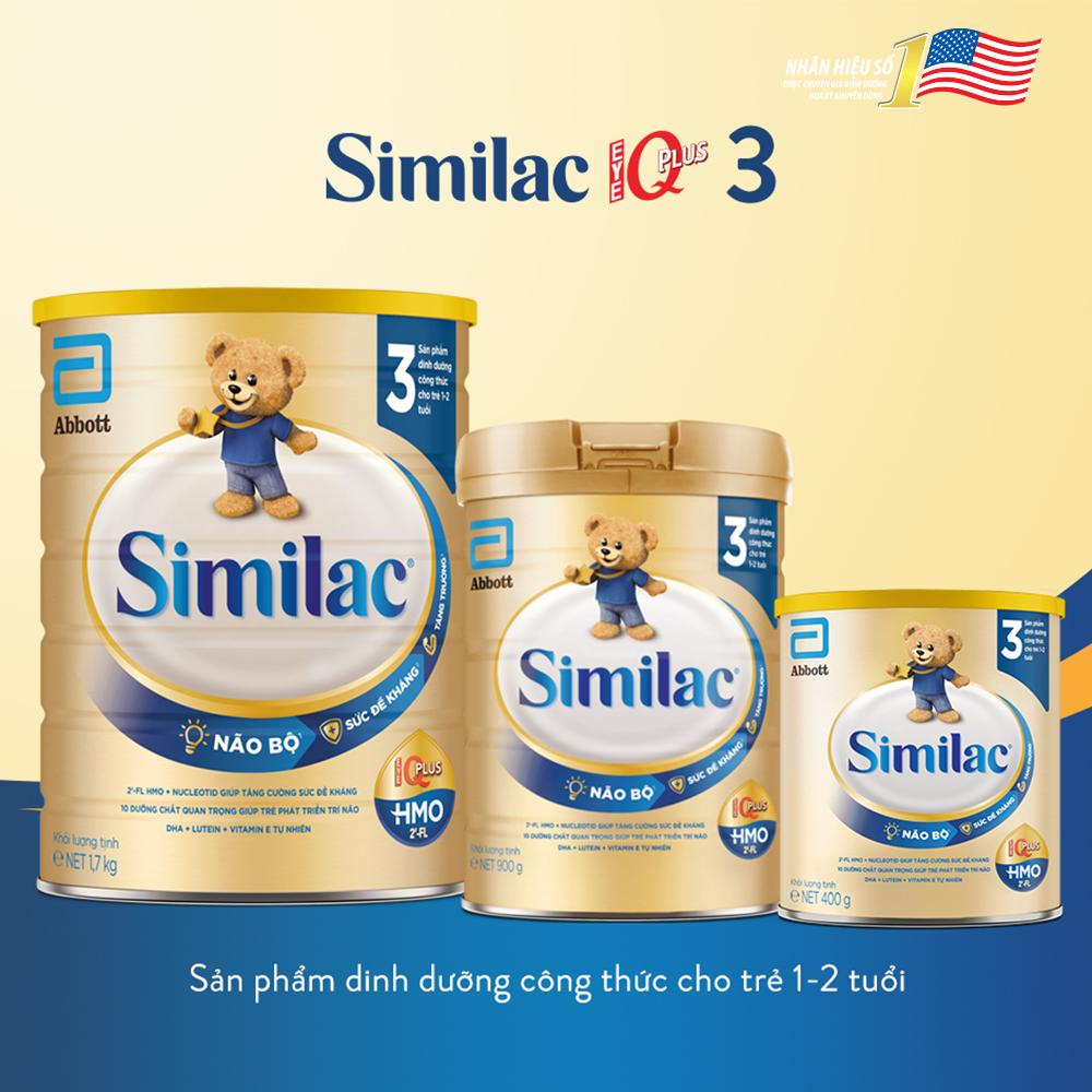 Sữa Similac Eye-Q số 3 900g (1-2 tuổi)